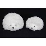Gisela Graham Snowdrop-white Bristle Hedgehog (35622)