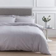 Satin Stripe Quilt Set Grey Single (SSSQSGY)