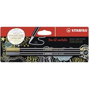 Stabilo Pen 68 Blistercard 2 Gold/silver (B-53044-10)