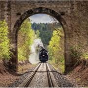 Steam Train Arriving Card (HI0718W)