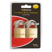 Sterling Locks 2pk Brass Padlocks 40mm (BPL442)