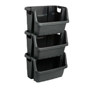 Strata Heavy Duty Stacking Crate (XW429-BLK-ST)