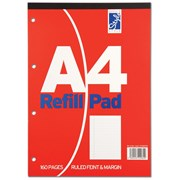 Style Refill Pad Red Fnt&mrgn 80sht A4 (STA80FM)