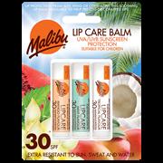 Malibu Lip Care Balm Spf30 3x4g (SUMAL090)