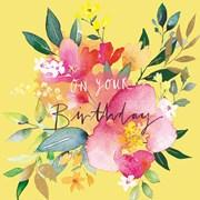 Summer Posy B/day Card (II1156W)