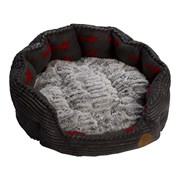 Petface Dog Deli Oval Bed Grey Bamboo Med (15172)