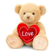 Keel Brown Snuggles Bear with Heart 25cm (SV2150)