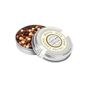 Sarunds Silver Tin Asst Choc Covered Salted Caramel Pearls 70g (SW506)