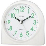 Sweeper One Sweep Alarm Clock White (14702)