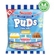 Swizzels Matlow Great British Puds Chew Bar Bag £1 Pmp 135g