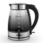 Tower 3kw Smoked Glass Jug Kettle 1.7l (T10058)