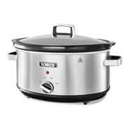 Tower Stainless Steel Slow Cooker 6.5l (T16019EX)
