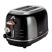 Tower Bottega Rose Gold & Black 2 Slice Toaster (T20016)