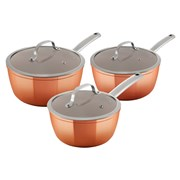 Tower Copper Forged 3 Piece Saucepans (T800017)