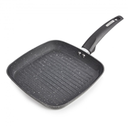 Tower Forged Grill Pan Graphite 25cm (T80336)