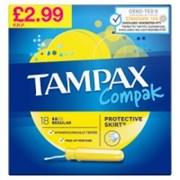 Tampax Compak Regular Pmp 2.99 18's (57768)