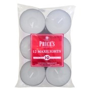 Prices Household Maxi Tealights 12s (TEM121228)
