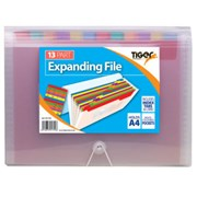 Tiger 13 Pocket Rainbow Expanding File A4 (301799)