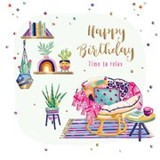 Time To Relax B/day Card (SFER0046)