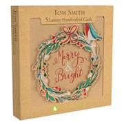 Tom Smith Luxury H/made Kraft Wreath Cards 5s (XALTC1302)