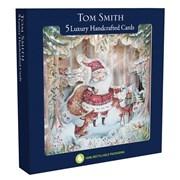 Tom Smith Luxury H/made Santa Cards 5s (XALTC1307)