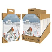 Tom Smith Luxury Uk Made Robin Cards 12s (XALTC804)