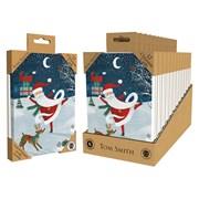 Tom Smith Luxury Uk Made Whimsical Santa Cards 12s (XALTC800)