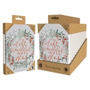 Tom Smith Luxury Uk Made Wreath Cards 12s (XALTC801)