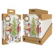 Tom Smith Luxury Uk Made Xmas Tree Cards 12s (XALTC803)