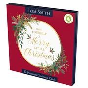 Tom Smith Premium Sq Merry Berry Cards 12s (XALTC1204)