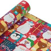 Tom Smith Santa & Friends Roll Wrap 8mt (XALTW514)
