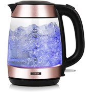 Tower 3kw Glass Jug Kettle Rose Gold 1.7l (T10040RG)