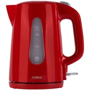 Tower Elements 3kw Jug Kettle Red 1.7l (T10014R)