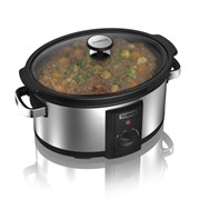 Tower Stainless Steel Slow Cooker 6.5l (T16040)