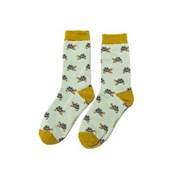 Miss Sparrow Turtle Socks Duck Egg (SKS214DUCKEGG)