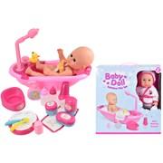 30cm Baby Doll Bathtime Play Set (TY4310)