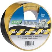 Ultratape 50mm Black & Yellow Hazard Stripe Tape 33m (06525033HAZBYUL)