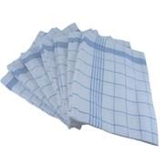 Dh Union Check Tea Towel Blue