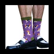 Mr Heron Beagle Pups Socks Purple (MH183PURPLE)