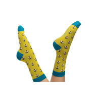 Miss Sparrow Honey Bee Socks Lime (SKS198LIME)