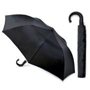 Mens Auto Folding Umbrella Black (UU0007)