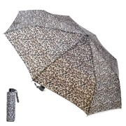 Ks Ladies Leopard Print Wind Resistance Umbrella (UU0305)