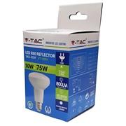 V-tac 10w Led E27 R80 3000k Light Bulb (VT4339)