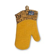 Zeal Oven Glove Hot Print Silicone Mustard Single (V117M)