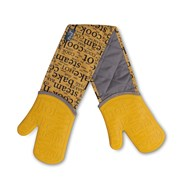 Zeal Oven Glove Hot Print Silicone Mustard Double (V118M)