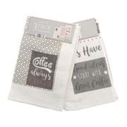 Velour Tea Towels Coffee 3pk (KTS163777)