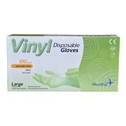 Medirite Clear Vinyl Powder Free Gloves 100s Large (103473)