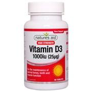 Natures Aid Vitamin D3 1000iu 90s (129330)