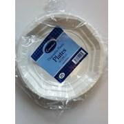 White Plastic Plates 22cm 25s (W22PL25)