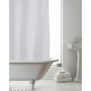Waffle Shower Curtain With Liner Grey (BAC162190)